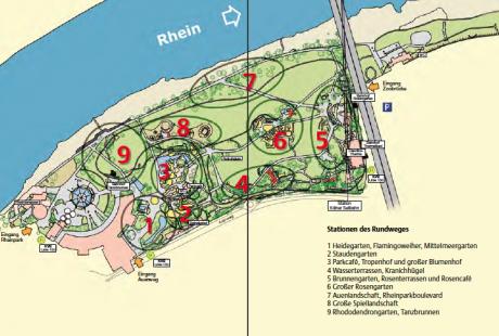 Alter Plan des Rheinparks