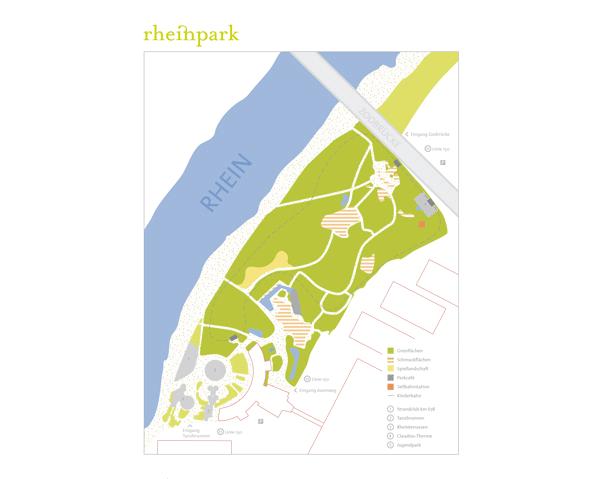 """Leitsystem """"Rheinpark Köln"""""""