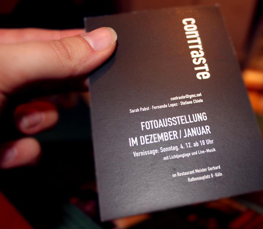 """Logo und Werbemittel """"contraste"""""""