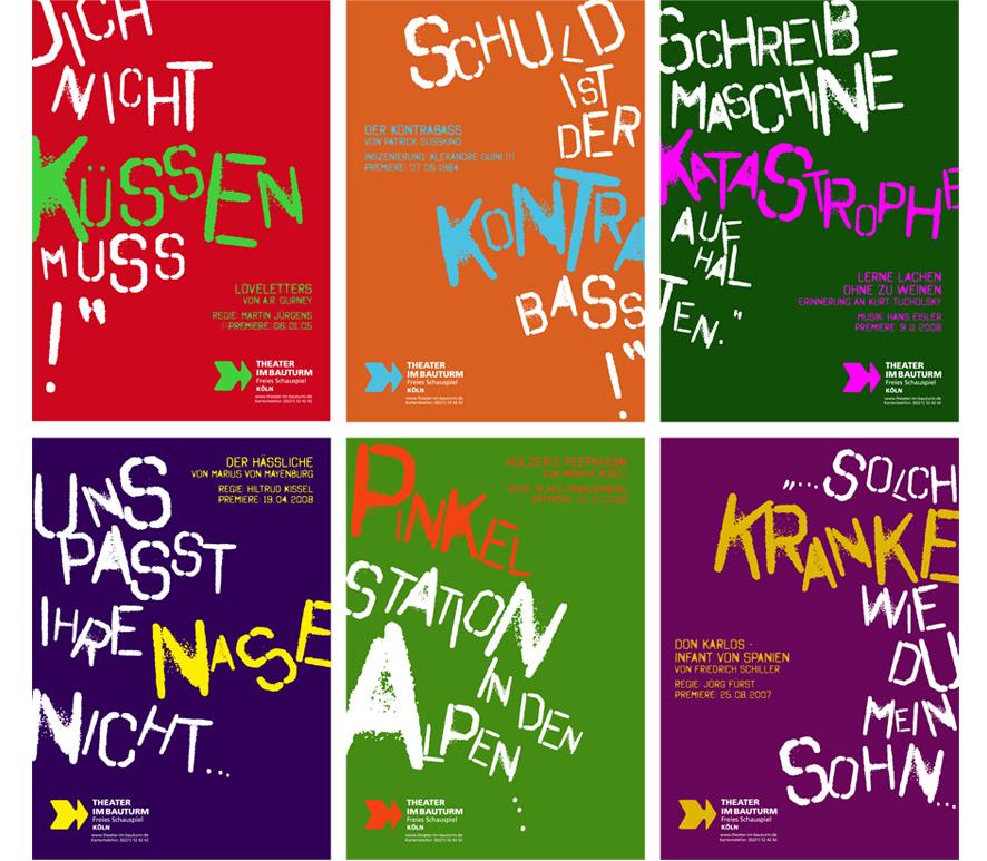 """Plakatkampagne """"Theater im Bauturm"""""""