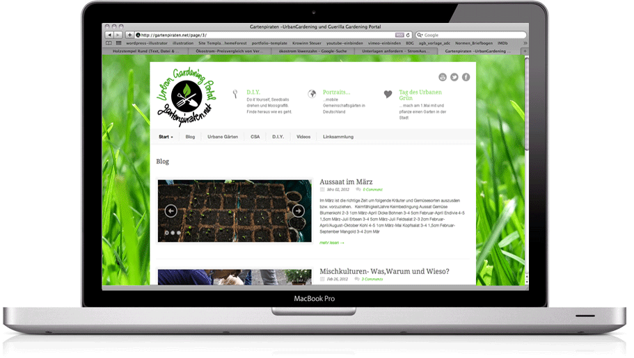 (Deutsch) Logo und Webdesign Gartenpiraten